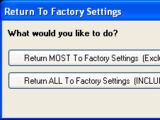 Return to Factory Settings