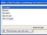 Creating a hybrid style
