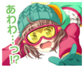 First Time!? Winter Sports Event Stamp