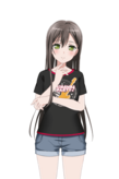 Hanazono Tae - Garupa Tshirt Live2D Model