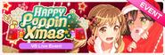 HAPPY Poppin' Xmas Worldwide Event Banner