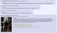 Anons discussing the possible relationship between bruce wayne and patrick bateman