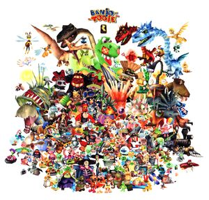 A montage of all the Banjo-Tooie characters, enemies, and bosses.