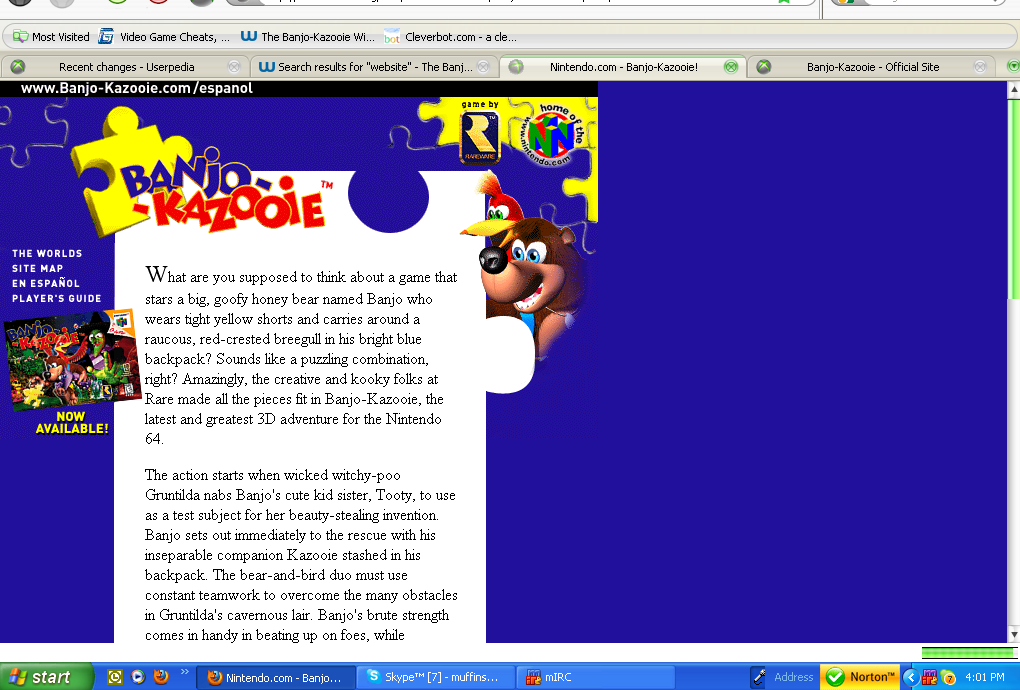 Banjo-Kazooie Official Websites