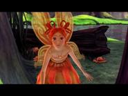 Sunburst looking at Laverna before getting captured