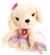 Barbie Puppy Adventure Bean Plush,Golden