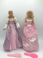Mattel 2001 Barbie As Rapunzel Magical Growing Hair and Princess Dolls