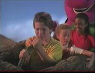 The kids on the log plane
