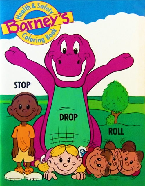 Barney's Health & Safety Coloring Book