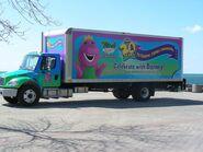Barney's 20th Anniversary tour truck