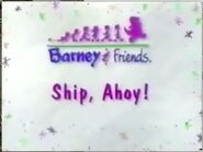 Ship, Ahoy! Title Card