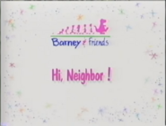 Hi, Neighbor! Title Card