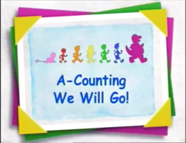 Barney & Friends Episode Title Card - A-Counting We Will Go!.png