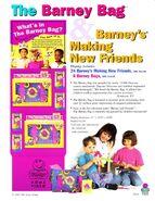Barney bag advertisement