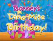 Barney's Dino-Mite Birthday!