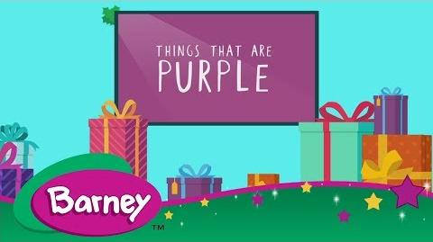 Barney 💜 Things That Are Purple WATCH BARNEY ON UNIVERSAL KIDS!