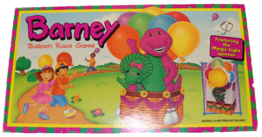 Barney Balloon Race Board Game