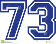 Seventy-three-college-number-seventy-three-college-number-vector-107152256