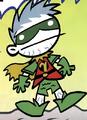 Bizarro Robin Tiny Titans 001
