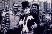 Batman 1989 - Guber, Peters and Nicholson on set