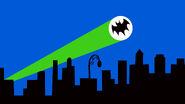 Batman 1960s batsignal in end credits
