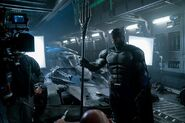 JL Batman y tridente