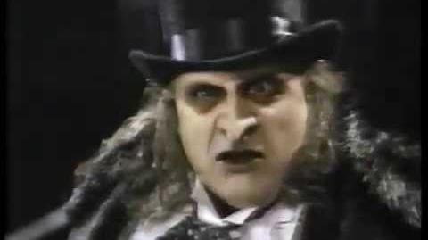 "Batman Returns ""The Penguin"" TV Spot Trailer Michael Keaton Pfeiffer DeVito Burton 1989 Commercial"