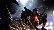The Flash and Michael Keaton Batman