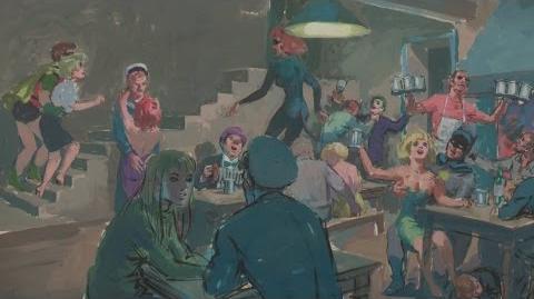"Leslie Thomas ""Batman"" Painting, ca"