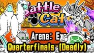Cheese Strat w Shell and Bahamut Tag Arena Expert, Quarterfinals (Deadly) Battle Cats