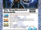 The HugeBeastLord Behedoth