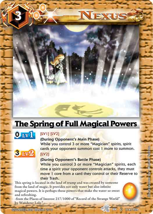 The Spring of Full Magical Powers