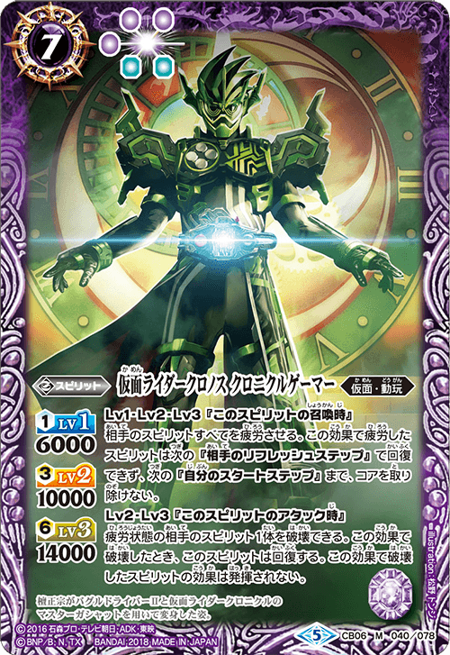 Kamen Rider Chronos Chronicle Gamer