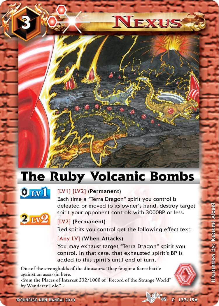 The Ruby Volcanic Bombs