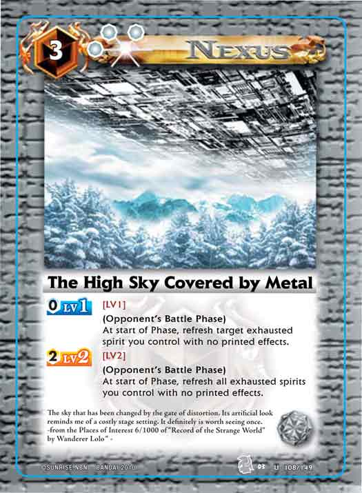 The High Sky Covered by Metal