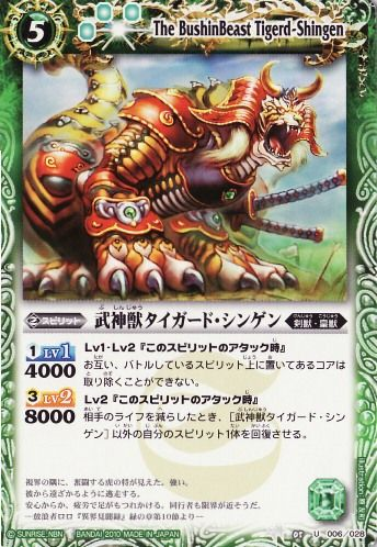 The BushinBeast Tigerd-Shingen