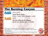 The Burning Canyon
