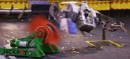 Jackpot rips off Ghost Raptor's left drive pod