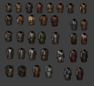 Concept drawings of ingame armor