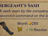 Sergeant's Sash