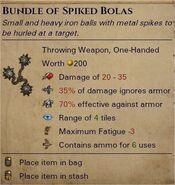 Spiked bolas 0