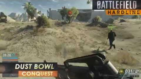 Battlefield Hardline Gameplay - Conquest on Dustbowl