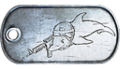 Diving Dolphin Dog Tag