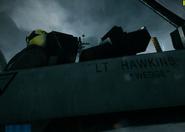 Hawkins airplane