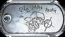 One Man Army Dog Tag