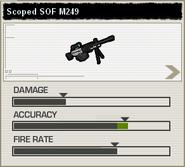 BFH Scoped Arctic M249 Stats