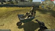 Wheelbarrow - cut vehicle from Battlefield 2