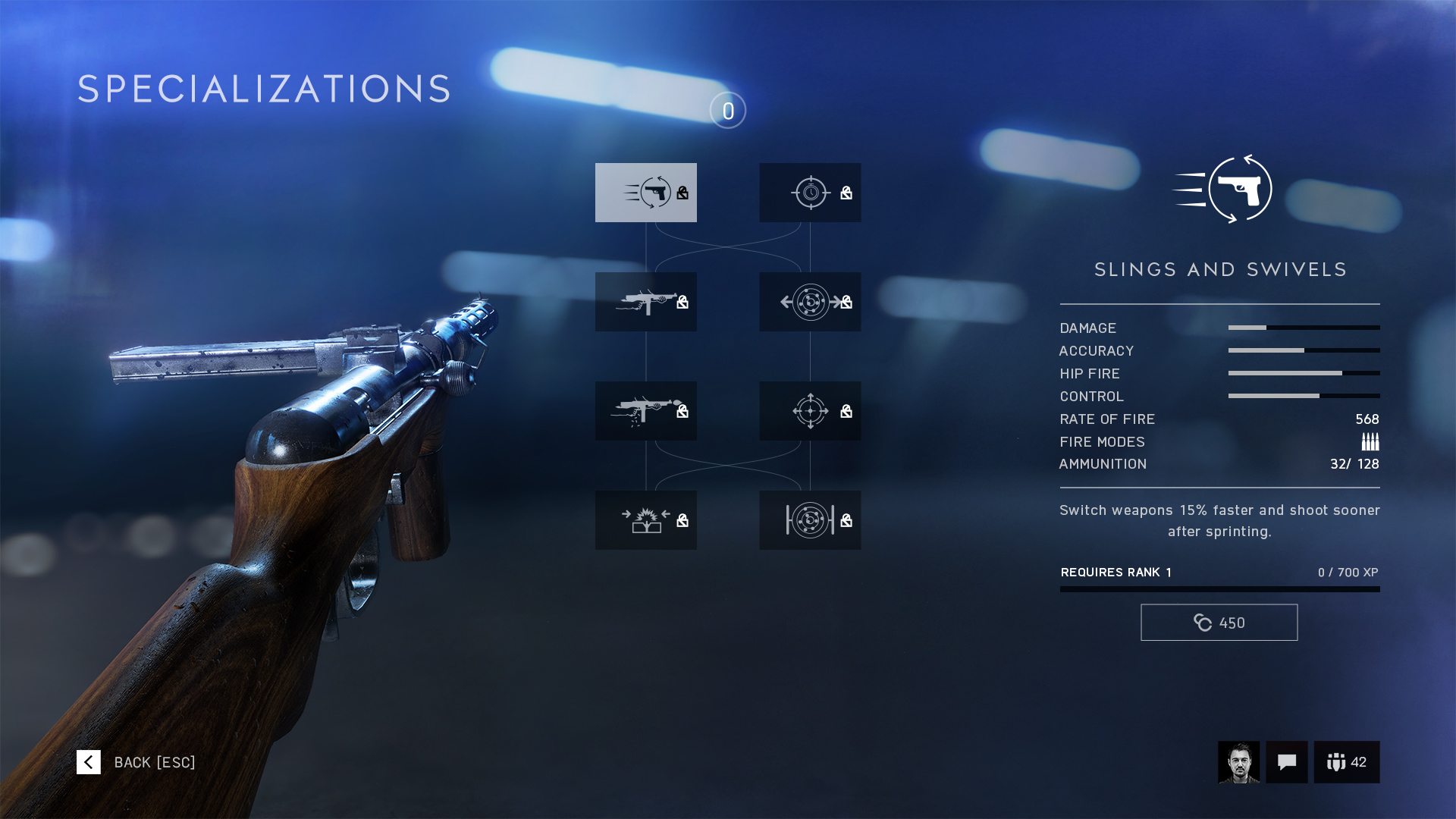 Specializations (Battlefield V)/Weapons