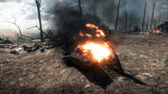 BF1 MC 3.5HP Sidecar Destroyed