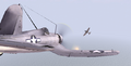 BF1942 CORSAIR FIRES ON VAL